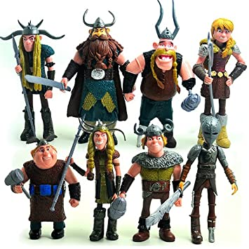 How to train your dragon hiccup astrid stoick action figure toys how to train your dragon hiccup astrid stoick action figure toys 8pcsset ccuart Choice Image