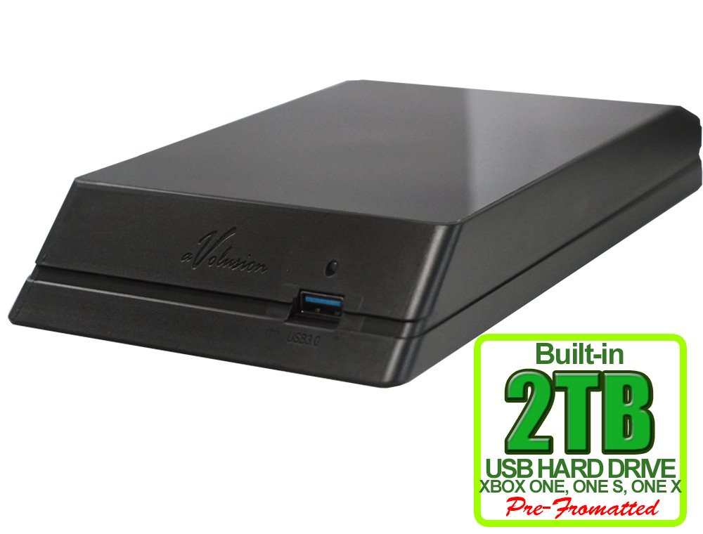 Avolusion HDDGear 2TB (2000GB) USB 3.0 External XBOX Gaming Hard Drive (XBOX Pre-Formatted) - XBOX ONE, XBOX ONE S, XBOX ONE X - 2 Year Warranty by Avolusion