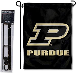 College Flags & Banners Co. Purdue Garden Banner and Flag Stand Pole Holder Set