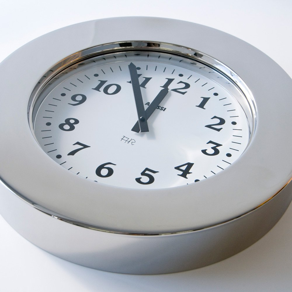 Amazon.com: Alessi Aleesi 11 Momento Wall Clock Inox Silver: Home & Kitchen