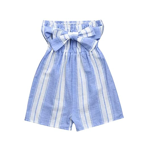 3892f83c029a Winsummer Parent-Child Shirt Family Matching Clothes Mommy and Me Matching  Stripe Romper Jumpsuits Shorts