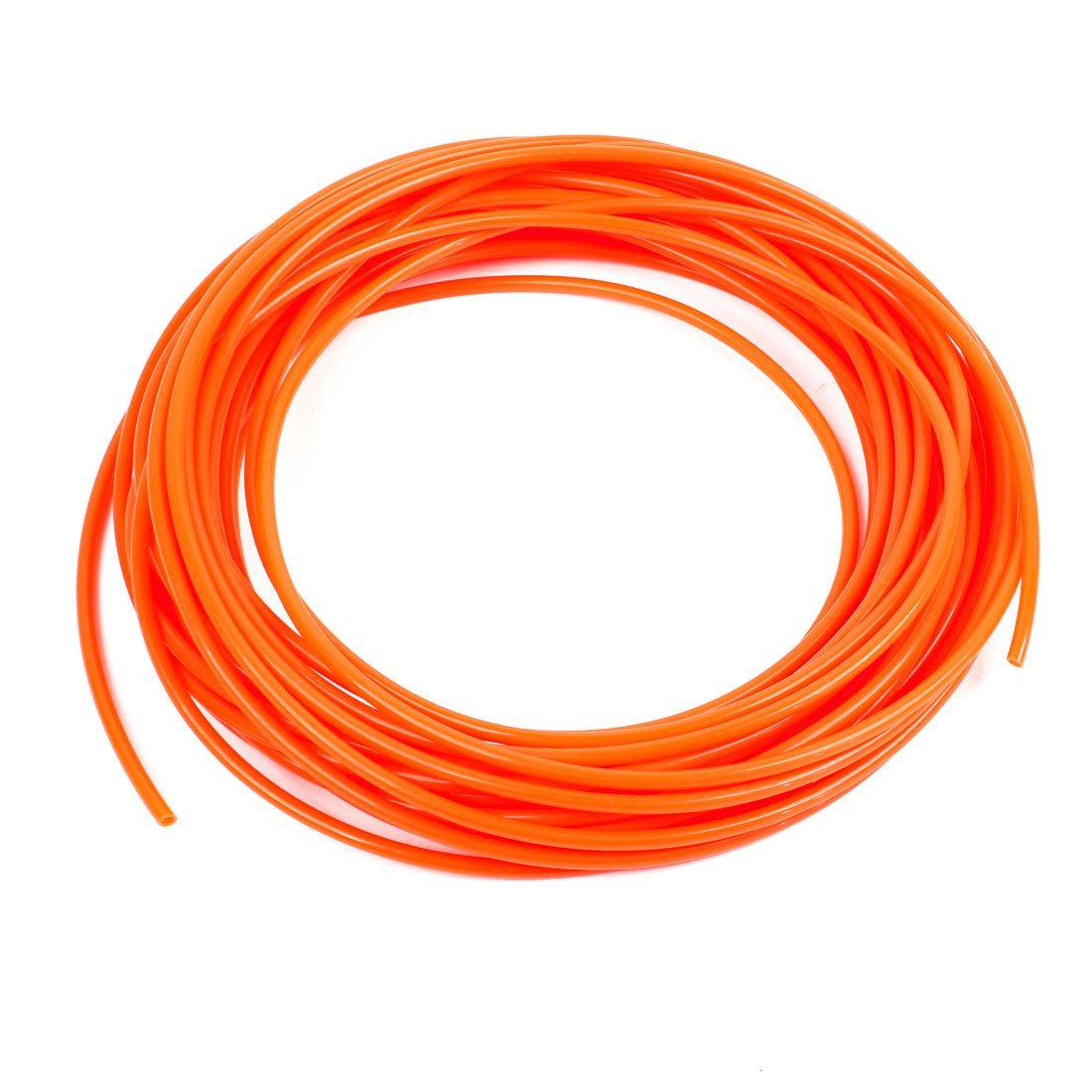 Uxcell a13070300ux0065 Orange 4mm OD 2.5mm ID 15 Meter Pneumatic PU Air Tube Hose