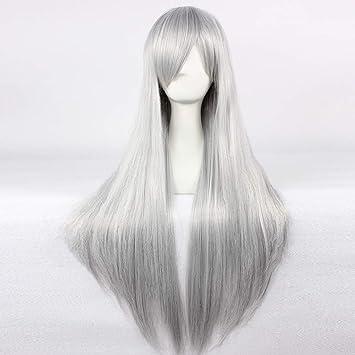 Amazon Com Hoolaza Silver Extra Long Straight Wig Jushiro
