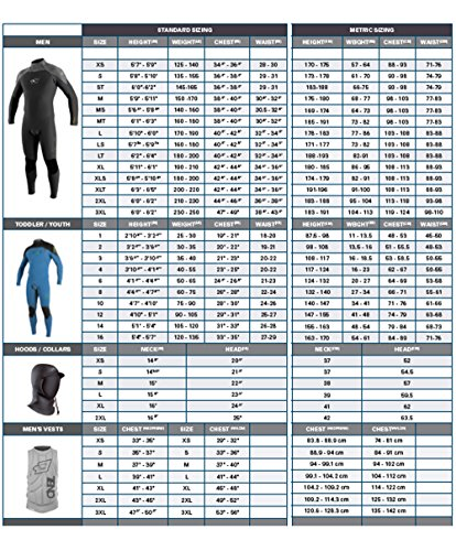 O'Neill Men's Dive J-Type 7mm Back Zip Full Wetsuit with Hood, Black, X-Large by O'Neill Wetsuits (Image #6)