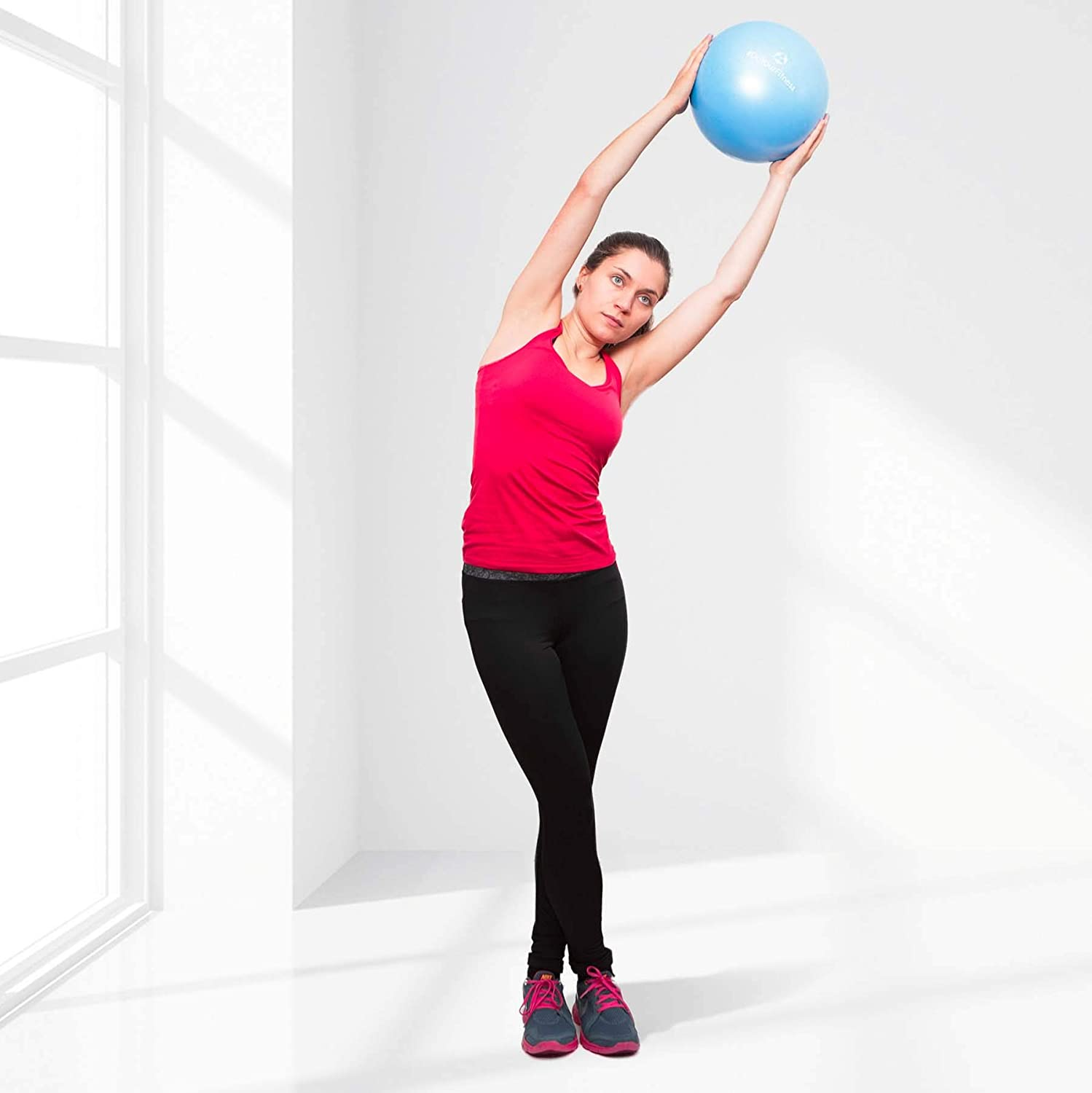 Soft Ball to relieve tension and muscle pain #DoYourSports #DoYourFitness Pilates Ball /»Bola/« orange = 18cm, red = 23cm, blue = 28cm /& violet = 33cm 100/% Long-Life Silicone Gel