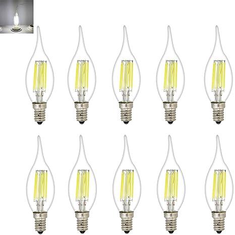 C35 6 W LED vela bombillas, rosca Edison E14 LED bombillas ...