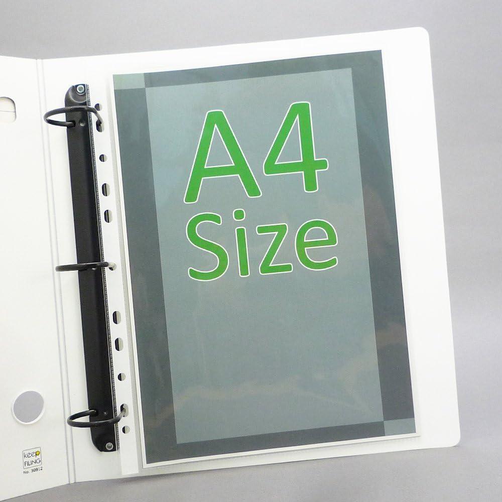 Pre-Puncehd 11 Holes Glass Clear Top Load A4 Sheet Protectors Heavyweight Keepfiling 100 per Box