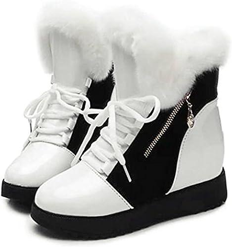 ZEARO Frauen Schuhe Winter Warm Pelz Schnee Stiefel Lace Up Mid Calf Stiefeletten