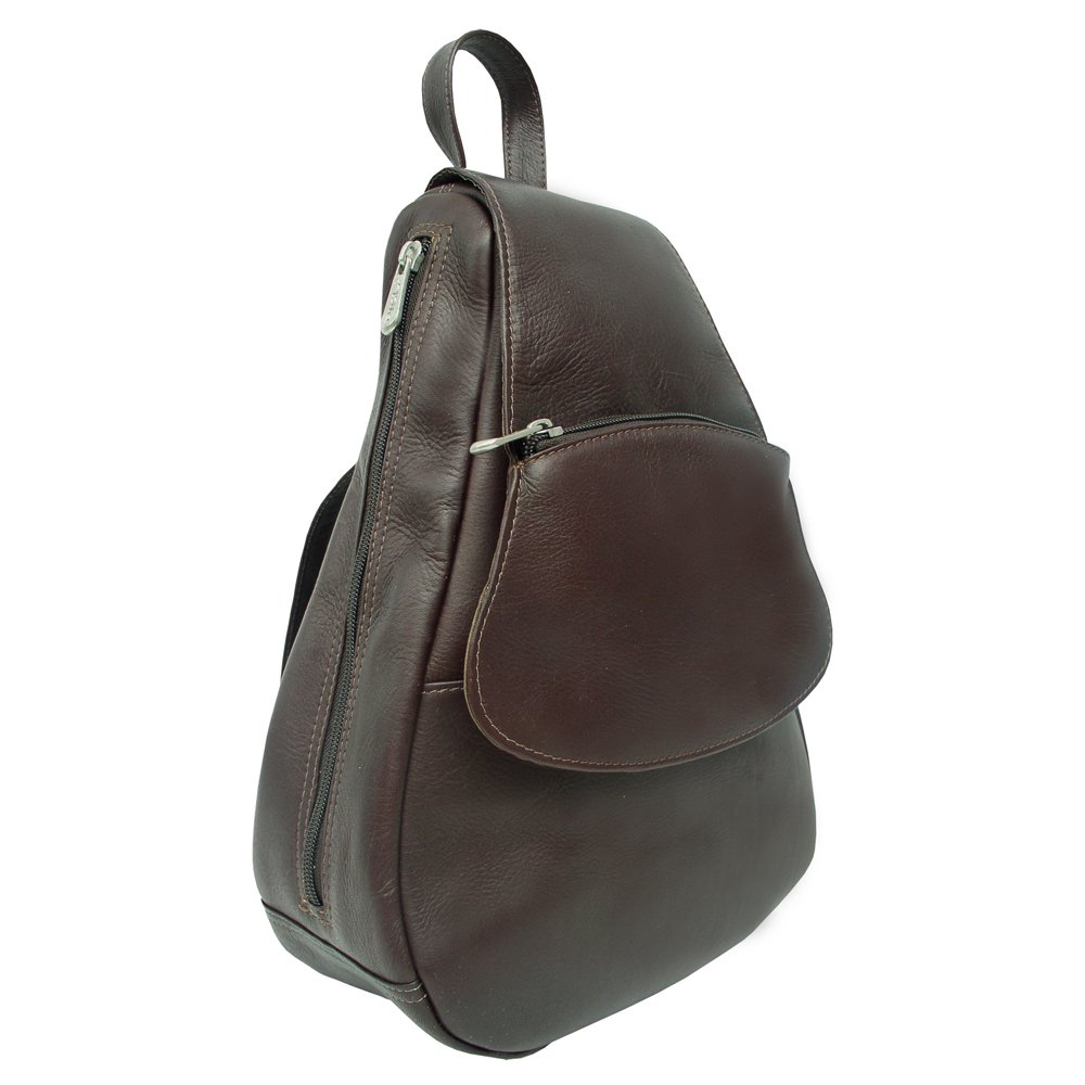 Piel Leather Flap-Over Sling, Chocolate, One Size by Piel Leather (Image #2)