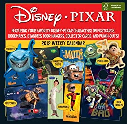 Disney Pixar 2012 Weekly Postcard Calendar