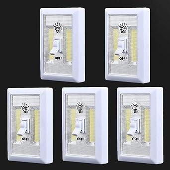 WICHEMI - Interruptor de luz LED de emergencia de 200 lúmenes ...