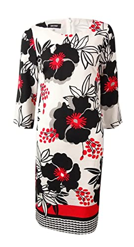 Nine West Women's Floral Crepe Shift Dress