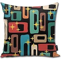 Retro Mid Century Modern Abstract Pattern Soft Cotton Linen Cushion Cover Pillowcases Throw Pillow Decor Pillow Case…