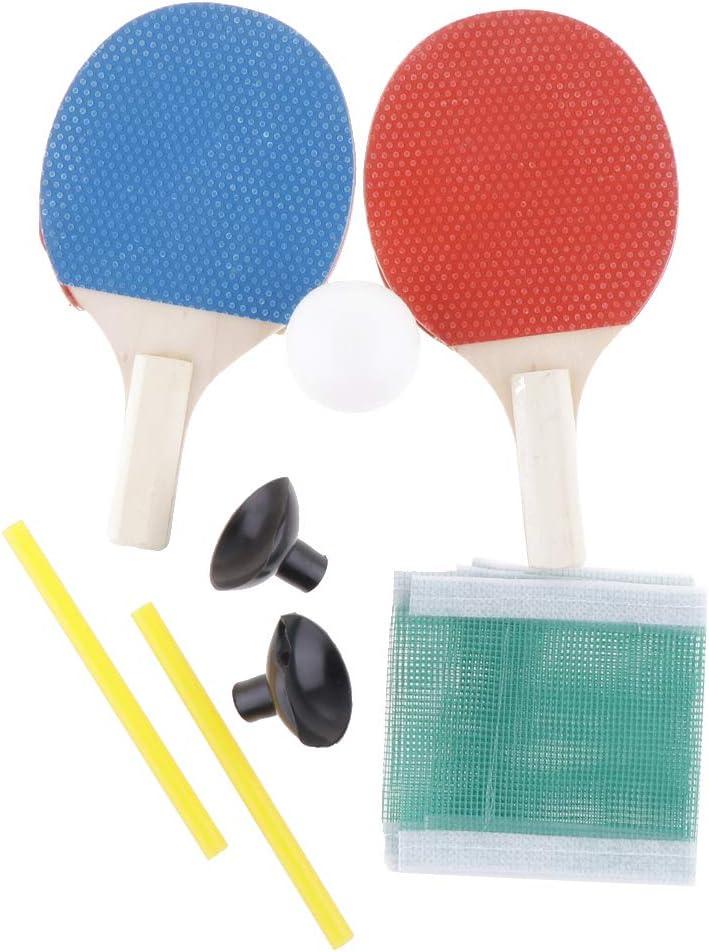 perfeclan Juego De Ping Pong De Ping Pong - Paquete De 2 Paletas/Raquetas + 1x Pelota De Tenis De Mesa - Goma Esponjosa Suave, para Juegos Profesionales