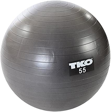 TKO Fitness - Balón de ejercicio, color plateado/gris, talla 55 cm ...
