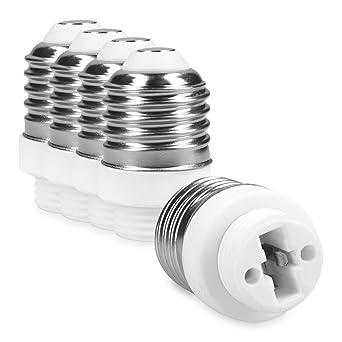 G9 Base Lampe À Kwmobile Pour LedHalogèneÉconomie D'énergie 5x Lampes Adaptateur Converter Douille E27 De La rxodBCe