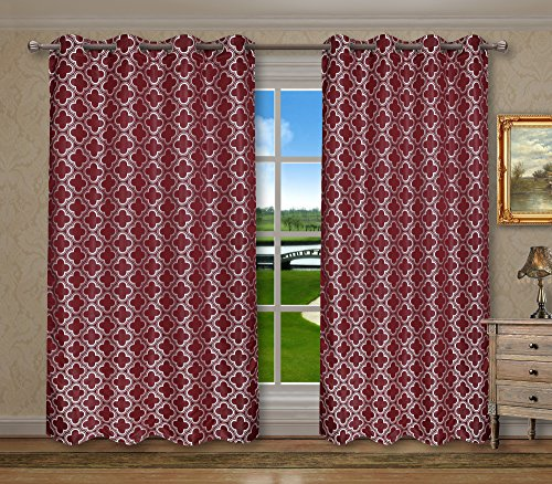 red and gray curtains - 3