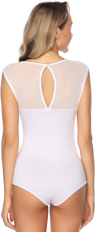 Abollria Bodysuit Donna Smanicata Elegante Body Top Un Pezzo Senza Maniche per Primavera Estate