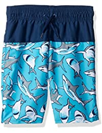 The Children's Place Boys' Solid to Print Swim Trunks