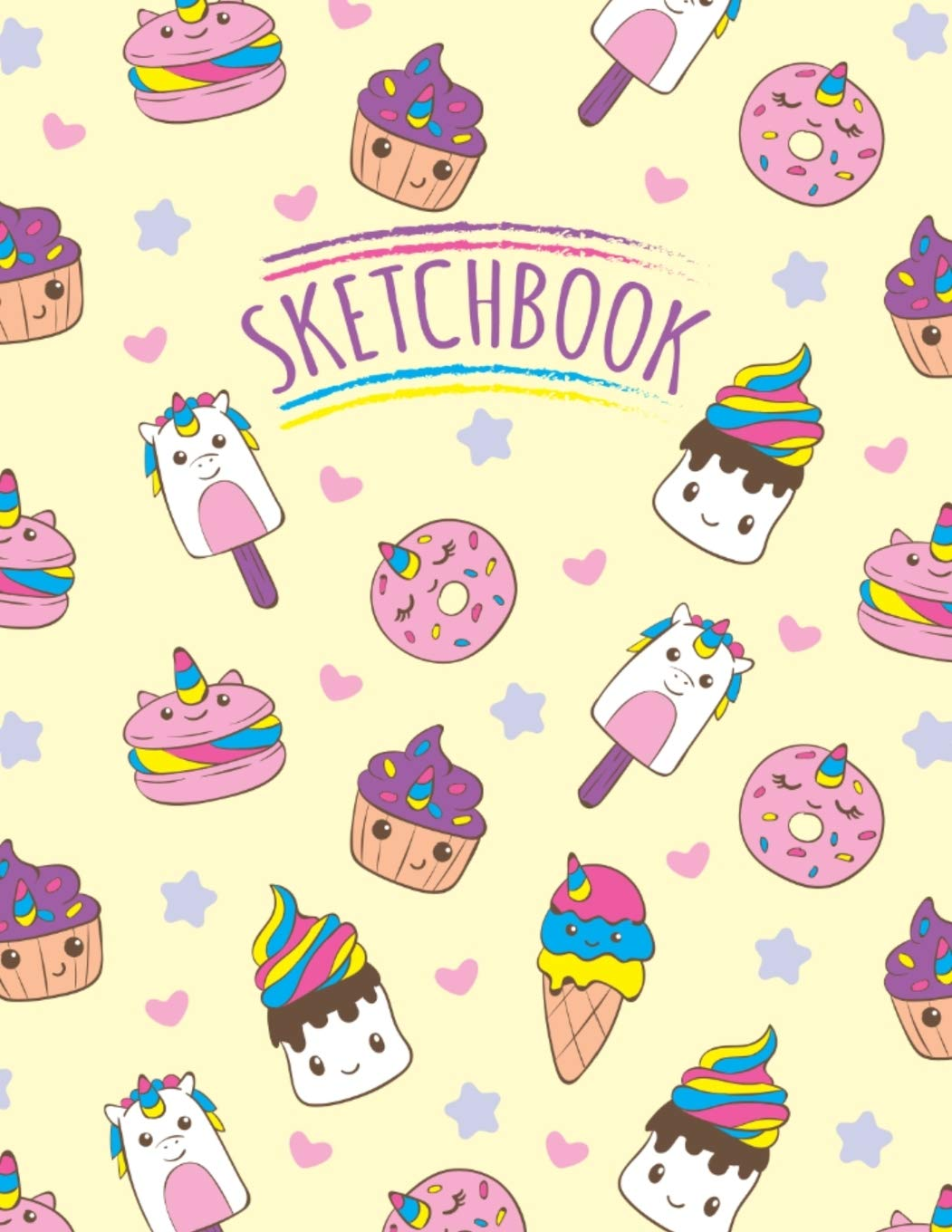 Sketchbook Magical Kawaii Unicorn Ice Cream And Cupcakes Sweets Sketchbook For Girls Unlined Blank Notebook For Sketching Journaling And Doodling Cute Drawing Book For Creative Kids Picturesque Press 9781696046664 Amazon Com Books