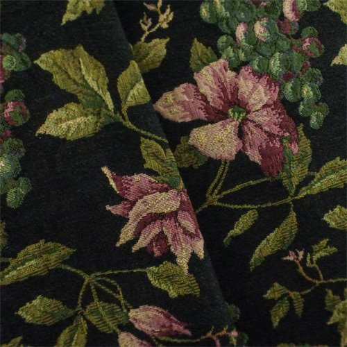 (Black/Multi Designer Floral Tapestry Home Decorating Fabric, Fabric by The Yard)
