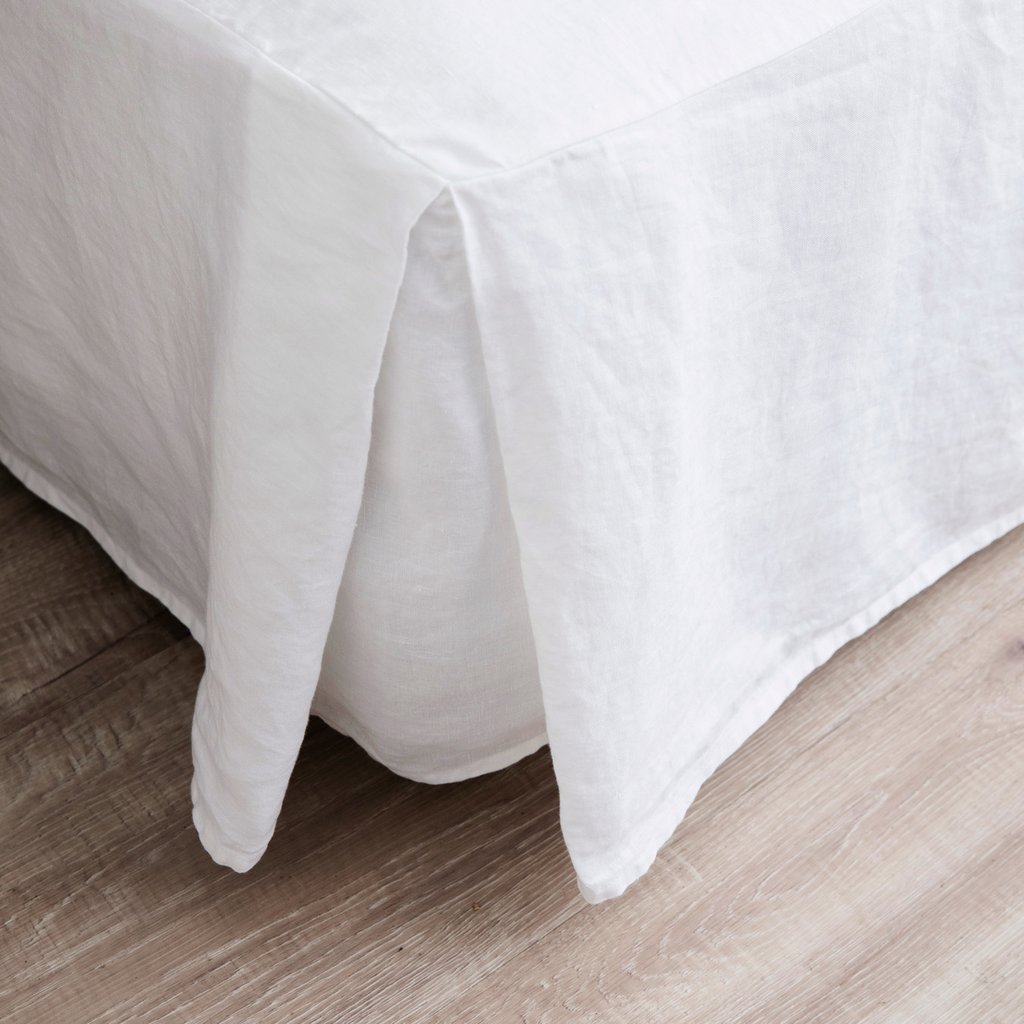 Merryfeel Luxurious 100% Pure French Linen Bed Skirt - Queen