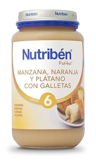 Nutriben Manzana, Naranaja, Platano y Galleta Potito- 200 gr