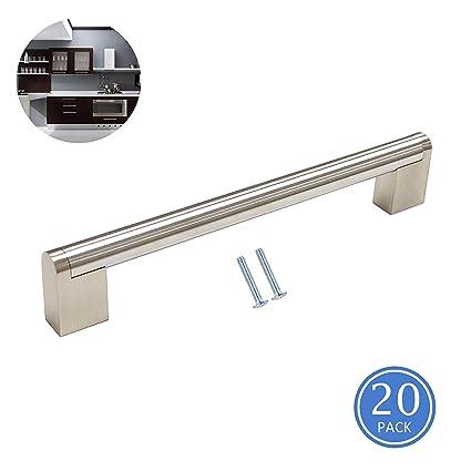 6 5 Hole To Hole Cabinet Pulls Handles Brushed Nickel Finish