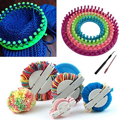Set of 4 Size DIY Hat Scarf Socks Round Knitting Loom Hat Maker