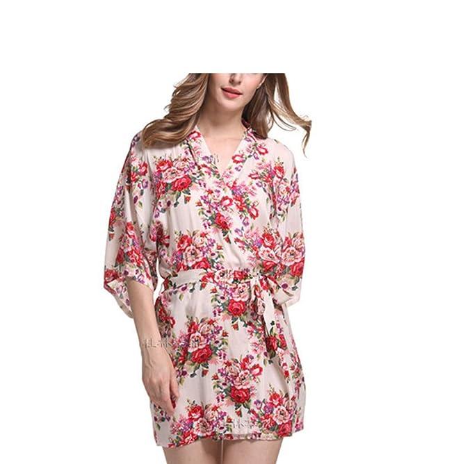 Amazon.com: molif nueva impresión floral mujer Kimono Sexy ...