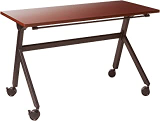 product image for HON Assemble Flip Base Multi-Purpose Table, 48-Inch, Chestnut/Black (HBMPT4824P)