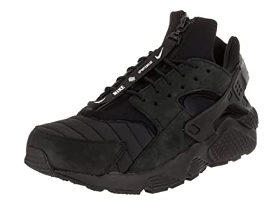 Amazon.com | Nike Men's Air Huarache Run QS Black/White/Black Running Shoe  10 Men US | Road Running