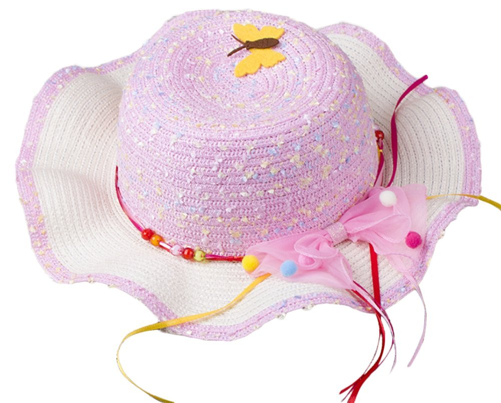 Nikgic Little Girls Straw Hat Summer Beach Cap for Girls' Holiday Travel Sun protection