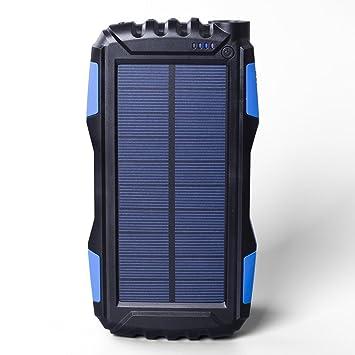 SOLARBATT Cargador solar batería externa Powerbank 25000mAh con 2 salidas USB Diseño muy compacto Linterna potente