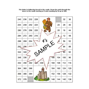 Amazon.com: Number Maze Worksheet Puzzles Counting By Numbers 1 to ...