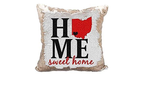Queen54ferna Home Sweet Home Funda de cojín Reversible con ...