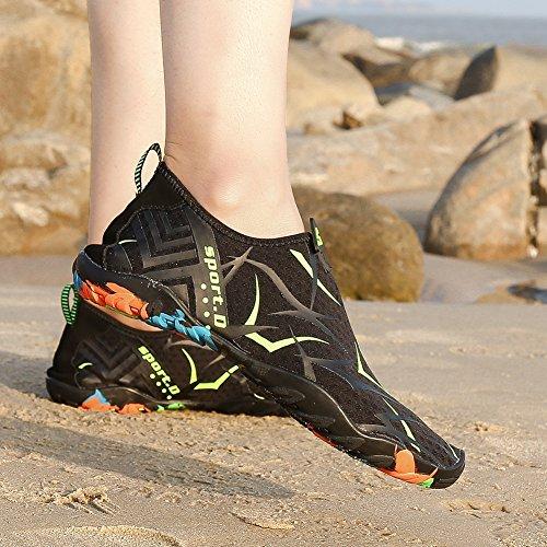 Putu Surf Schwimm schwarz Badeschuhe Schuhe Wasserschuhe Barfuß Damen Schnelltrocknend Herren Sommer Möwe Aquaschuhe Strand PPqxdFr