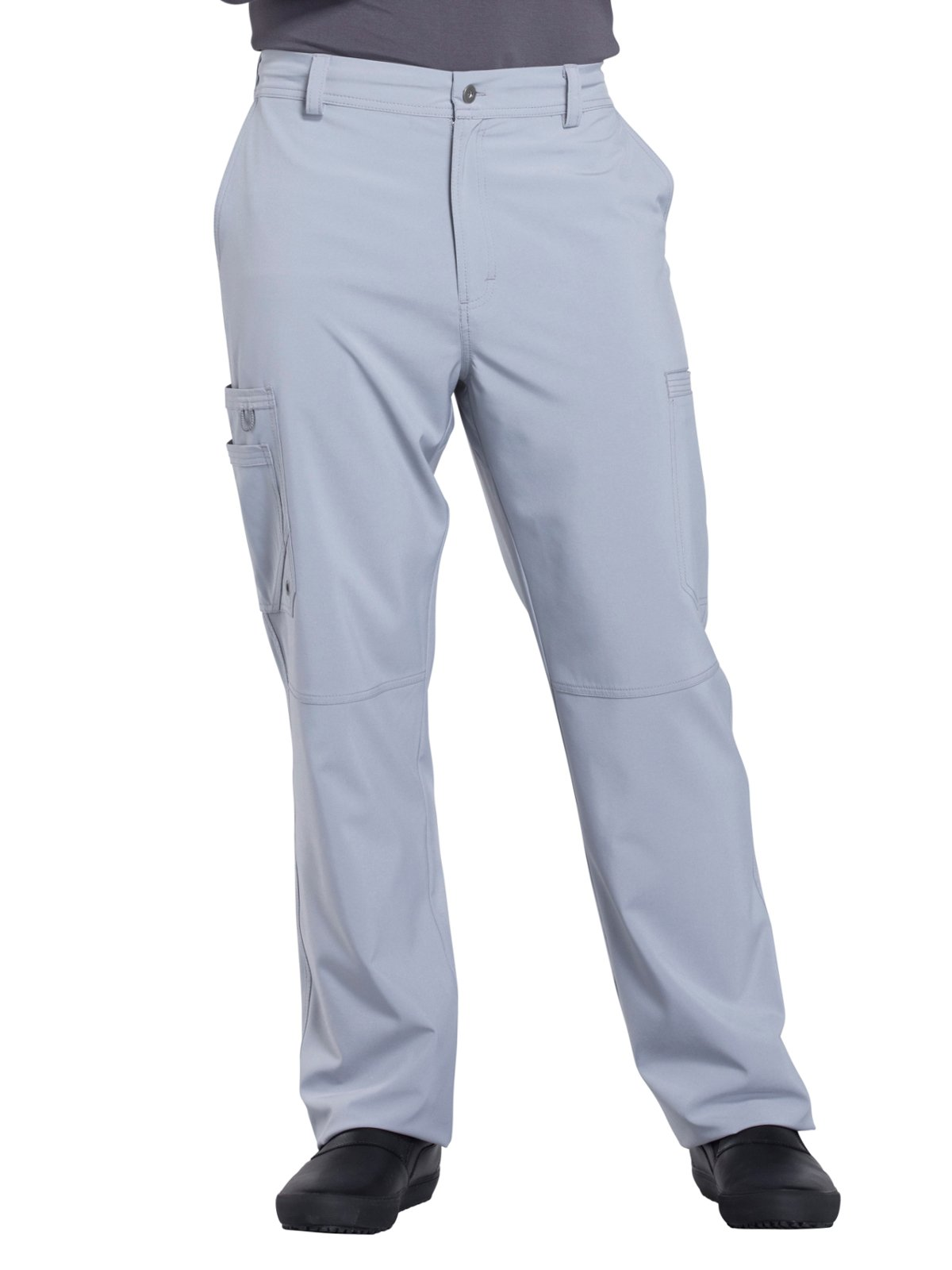 Cherokee Infinity CK200A Men's Fly Front Cargo Pant Grey L Short by Cherokee
