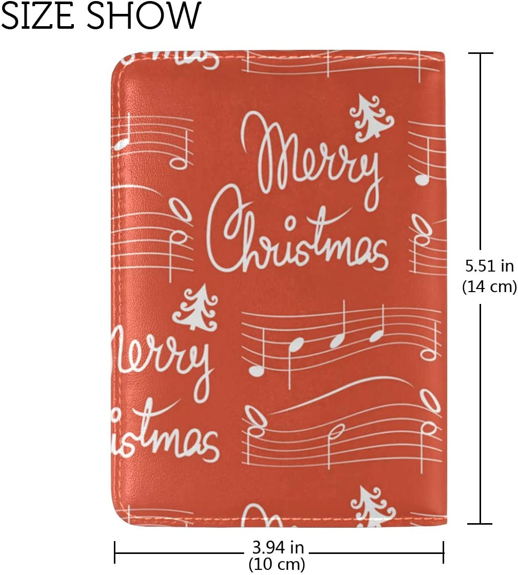 Christmas Music Gift Bags Leather Passport Wallet for Passport Holder for Safe Trip durable Easy to Carry