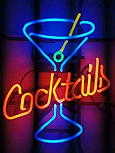 LDGJ Neon Signs for Wall Decor Handmade Sign Home Larger Cocktails Martini Custom Beer Bar Pub Recreation Room Lights Windows Glass Party