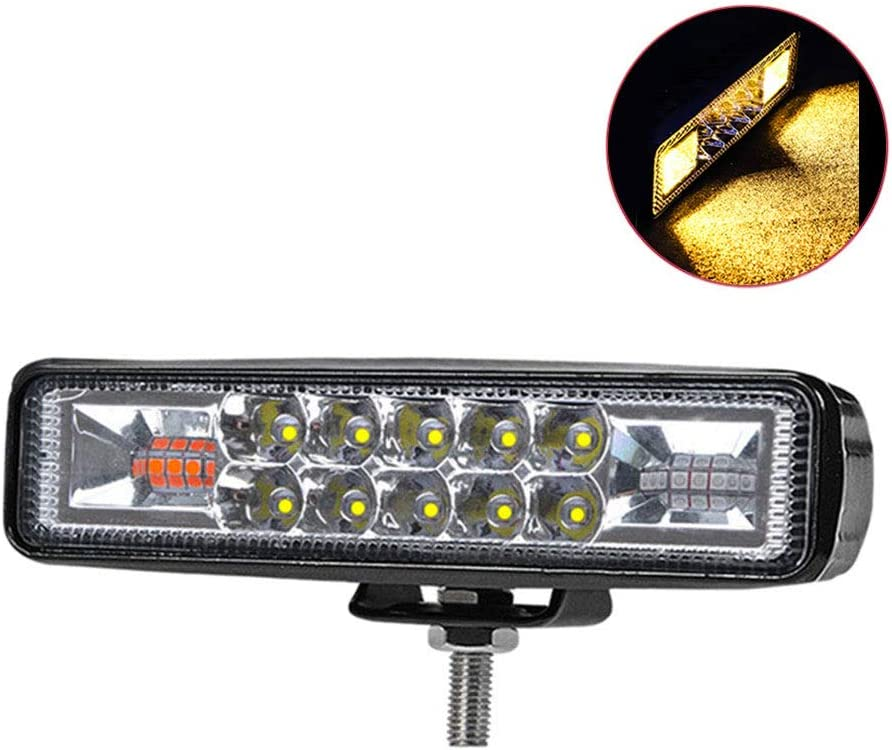 Barra de luces LED de 6 pulgadas Luces de conducción sumergibles 18 W 18000 lm LED Pods Spot Flood Combo Beam Luces todoterreno Luces antiniebla para camión Remolque Pickup Barco Coche Jeep, 2 piezas