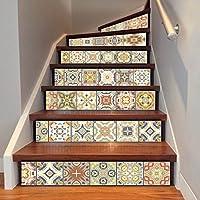 QTZS Azulejos 3D árabe Escaleras Adhesivo Decorativo DIY Pegatinas De Pared 6 Unids: Amazon.es: Hogar