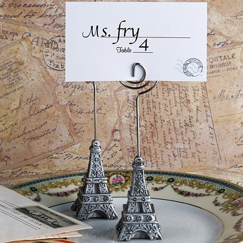 From Paris With Love Collection Eiffel Tower Place Card Holder Favors 1PK