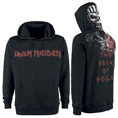 Iron Maiden The Book of Souls Eddie Sudadera con Capucha Negro XXL: Amazon.es: Ropa y accesorios
