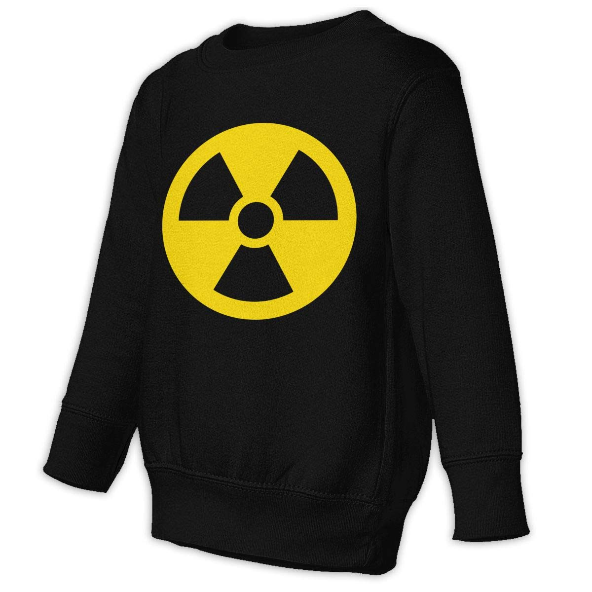 GHYNJUM Radioactive Warning Sign Juvenile Unisex Cotton Long Sleeve Round Neck Sweatshirt