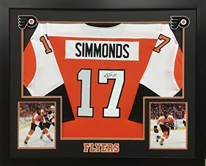 new style 638aa 667cf Wayne Simmonds Autographed Signed Flyers 36X44 Deluxe Framed ...