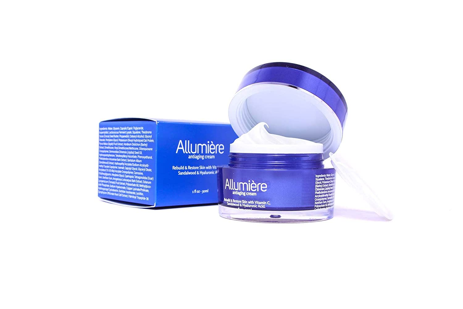 Amazon Allumiere Anti Aging Wrinkle Cream For Fines Lines Wrinkles Improves Skin Radiance Texture And Tone With Cocoa Seed Butter