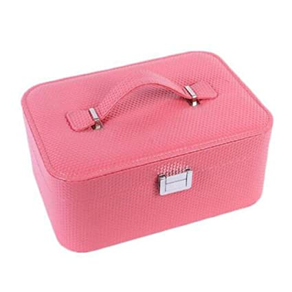 4c53a2b886 Handbag Fashion Women s Leather Jewelry Boxes Cosmetic Bags Travel Makeup  Large Cosmetic Bag Handbag Storage Case