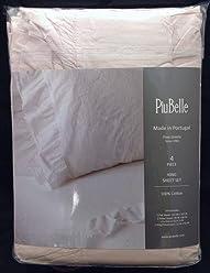 Piu Belle Ruffled Shabby Chic Sheet Set - King Size (Soft Pink Rose Blush)