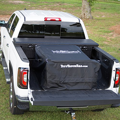 Tuff Truck Bag - Black Waterproof Truck Bed Cargo Carrier, 40'' x 50'' x 22'' (50 Boxes Roof)